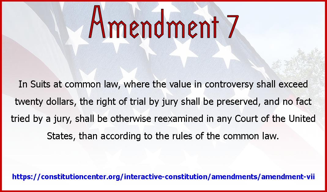 Amend 7