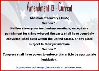 Amend 13 Current