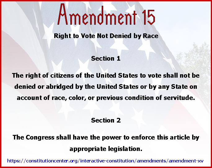 Amend 15